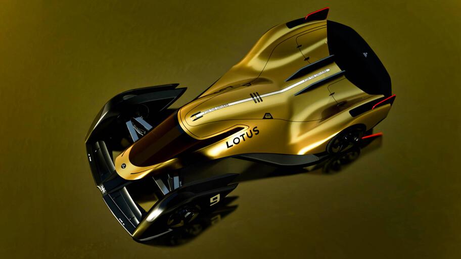 Lotus E-R9 es un espectacular y futurista auto de carreras eléctrico