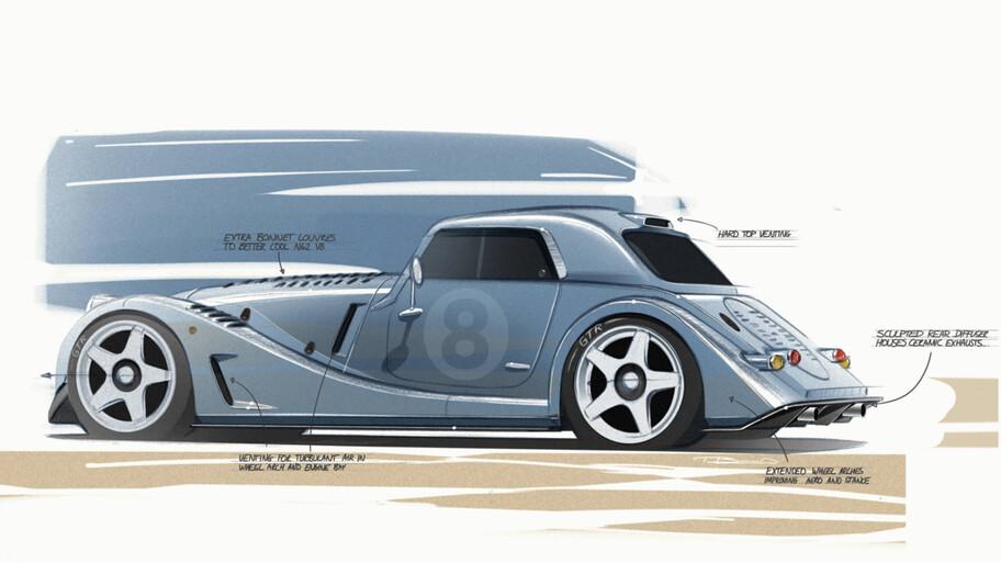 Morgan Plus 8 GTR, resucita como un clásico e intimidante auto de carreras