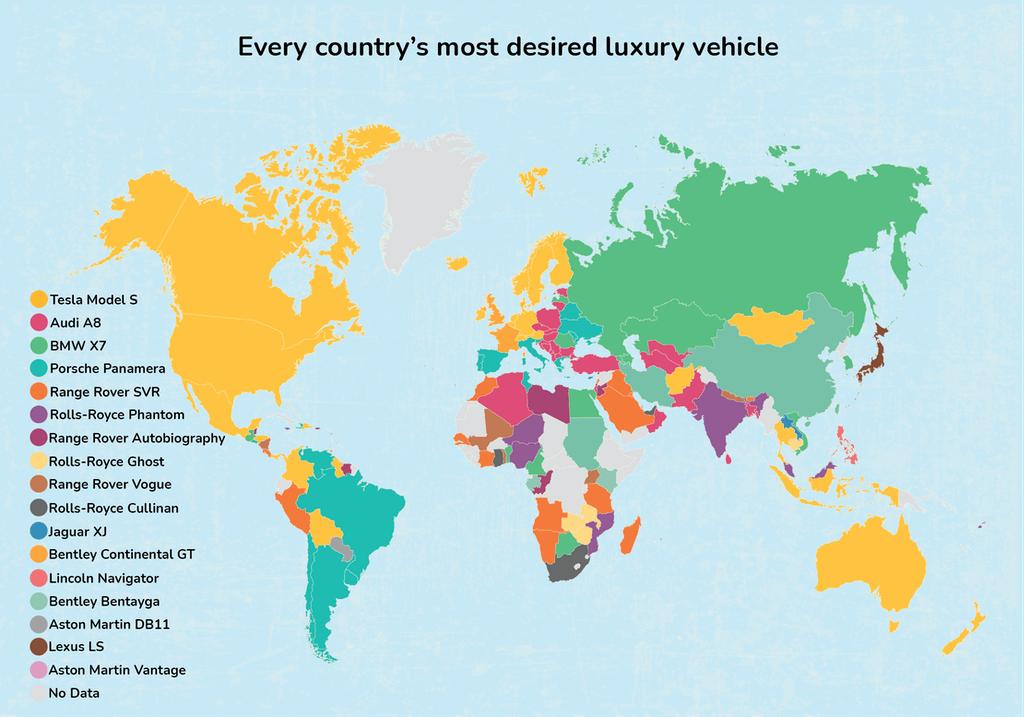 ¿Cuáles son los autos de lujo más populares en el mundo?