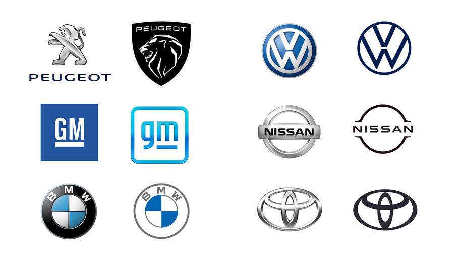 ¿Por qué ahora los logotipos de las marcas de autos son más sencillos?