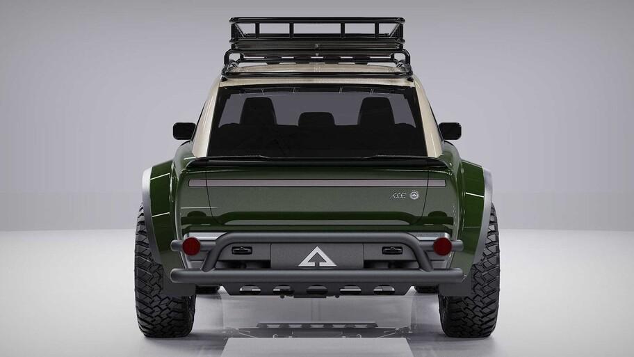 Alpha Jax es un sedán 4x4 agigantado con look retro y desempeño totalmente eléctrico