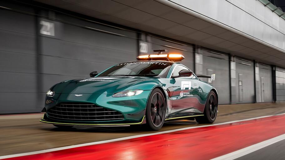 Aston Martin Vantage es el nuevo safety car de la F1 en 2021