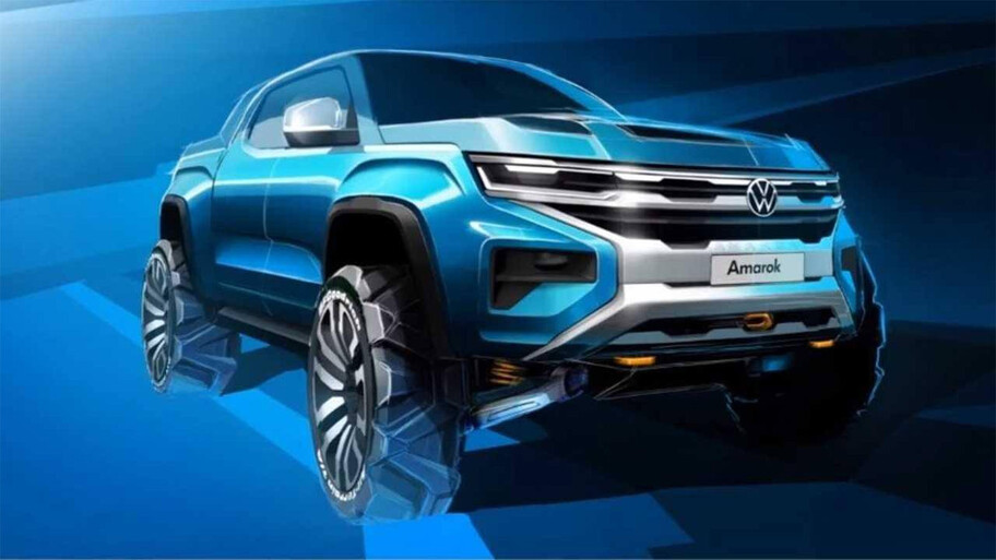 Así se vería la nueva Volkswagen Amarok que compartirá plataforma con la Ford Ranger