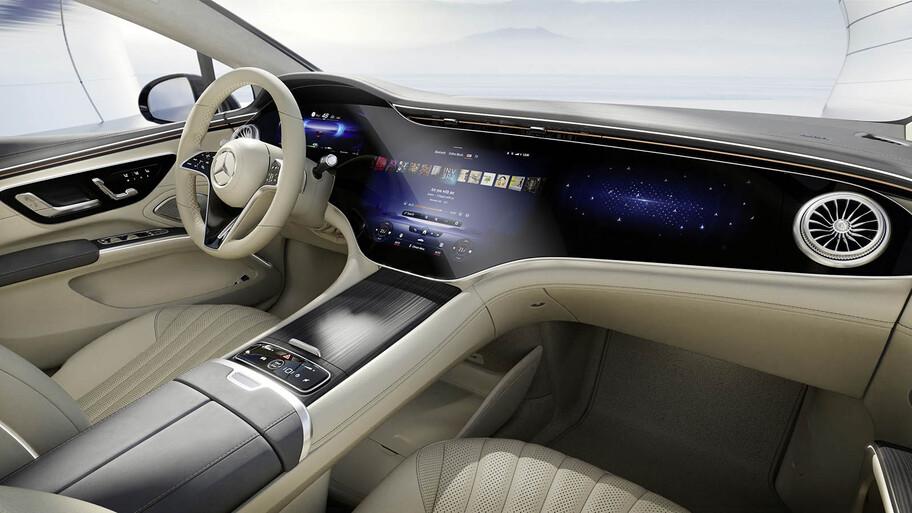 Mercedes-Benz muestra las primeras imágenes del interior del EQS, el Clase S eléctrico