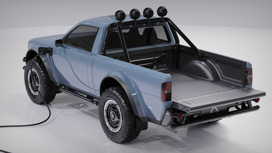 Alpha Wolf: una pickup eléctrica con estilo retro y capacidades off-road