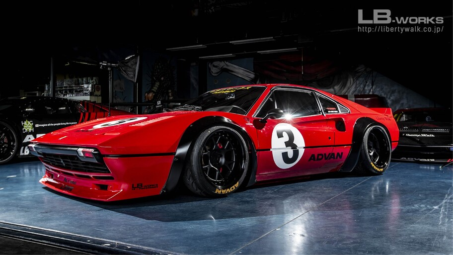 "Ferrari 308 GTB por Liberty Walk: un auto clásico ""tuneado"" que es amado u odiado"