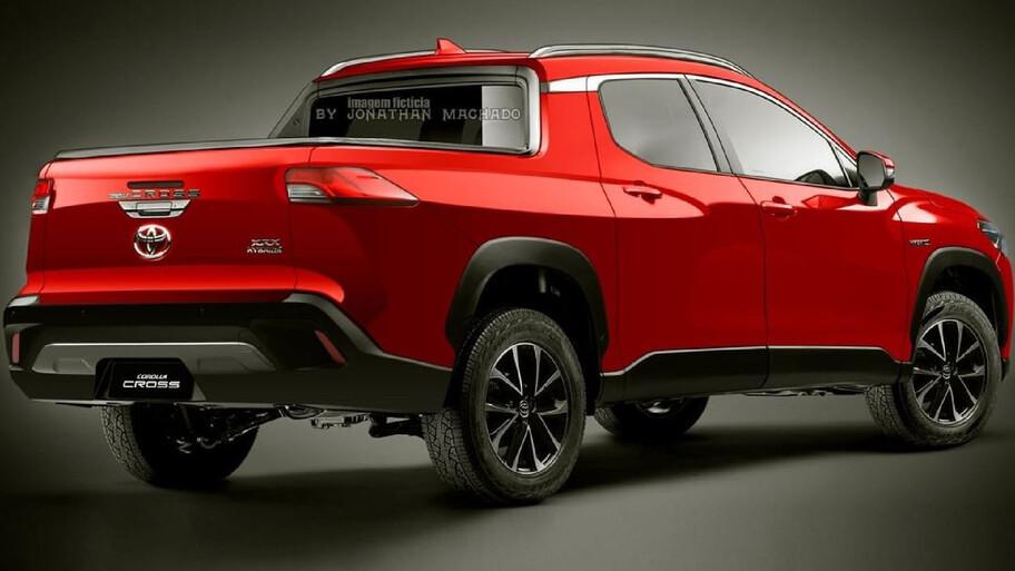 Así luciría una pickup basada en el Toyota Corolla Cross