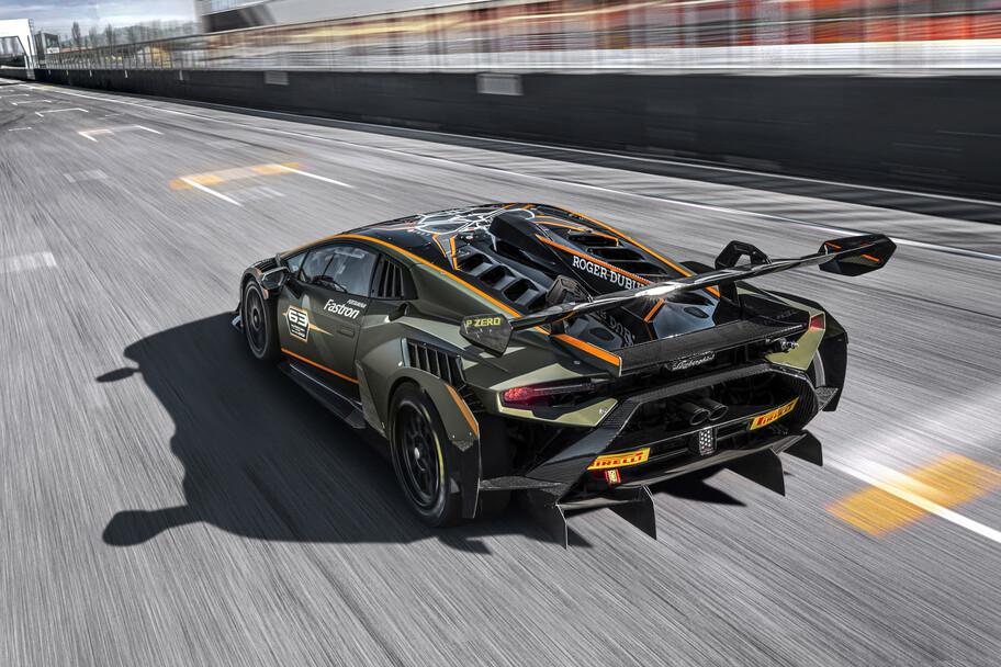 Lamborghini Huracán Super Trofeo EVO2 es un auto de carreras extremo