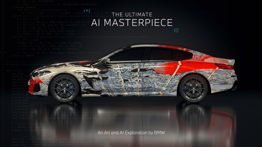 BMW crea artcars con Inteligencia Artificial, tu próximo artista favorito podría ser un robot