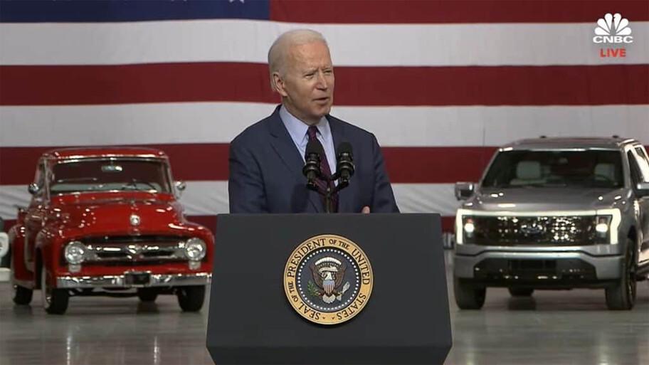 Ford F-150 Lightning 2022, debuta la Lobo 100% eléctrica en un evento con Joe Biden