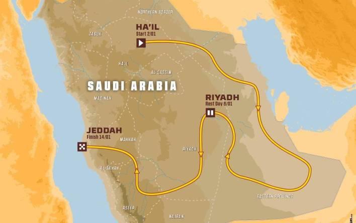 Mapa Dakar 2022