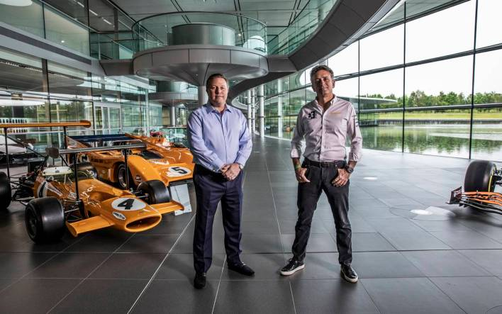 Zak Brown, de McLaren; y Alejandro Agag, responsable de la Extreme E.
