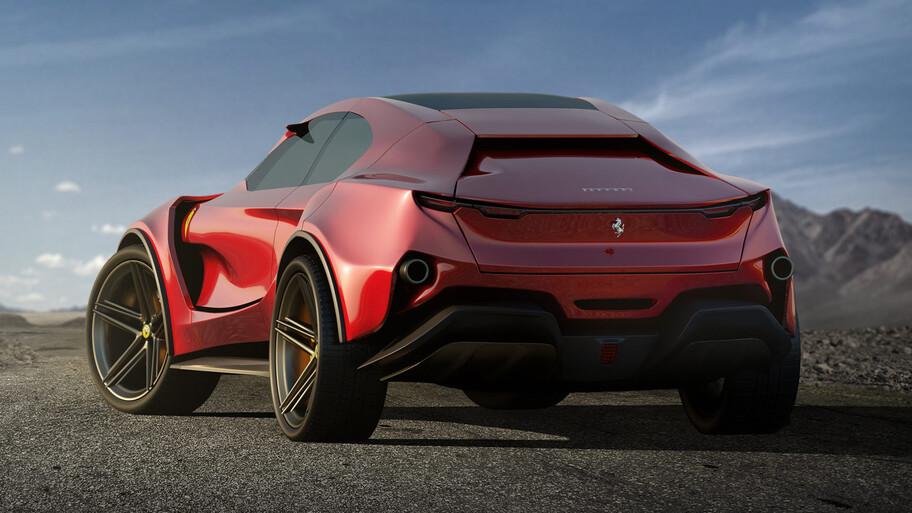 Ferrari Simoom, un concepto independiente que calma las ansias de conocer al SUV Purosangue