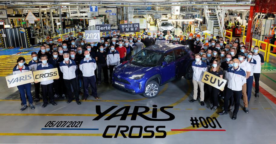 Toyota inicia la producción del Yaris Cross en Francia
