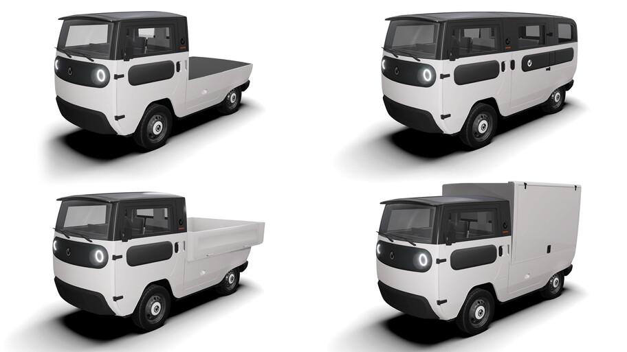 XBUS, la mini Combi eléctrica que puede convertirse en pickup