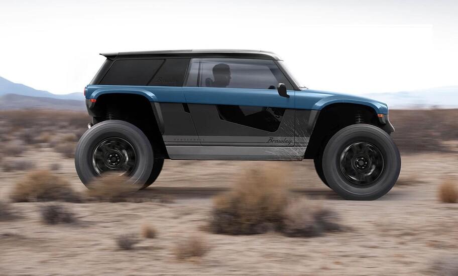 Vanderhall Brawley es un como un Jeep Wrangler, solo que tiene un poder eléctrico de más de 400 hp