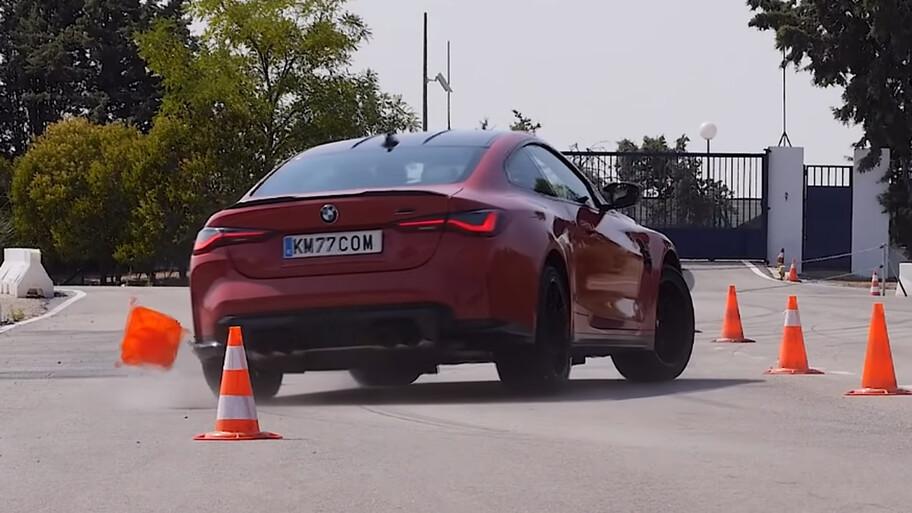 BMW M4 se enfrenta la prueba del alce y le cuesta trabajo
