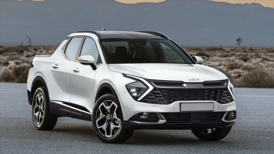 Así luciría la pickup de Kia basada en la Hyundai Santa Cruz