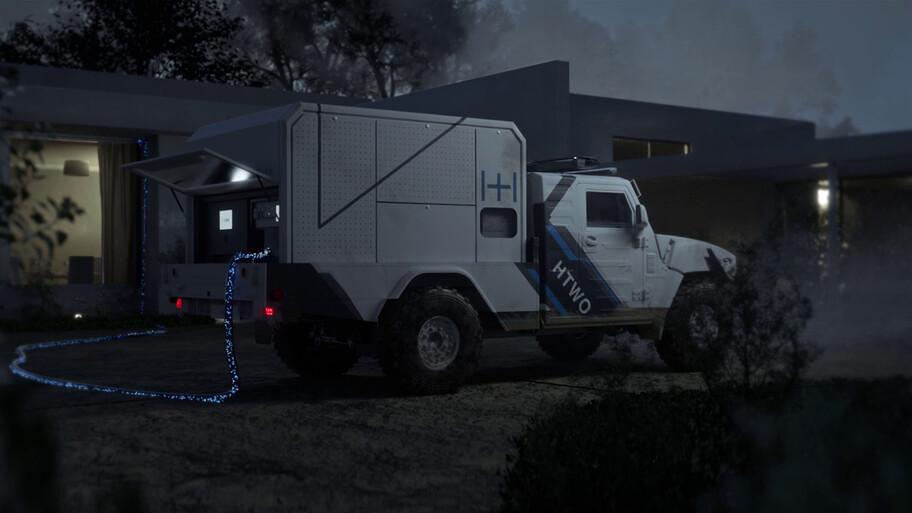 RHGV Concept es un vehículo de hidrógeno de rescate desarrollado por Hyundai Motor Group