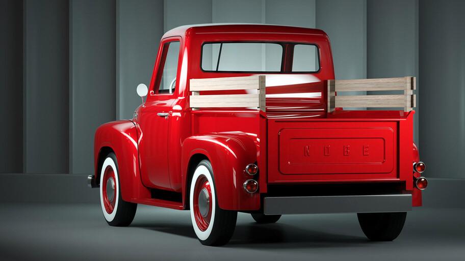 Nobe 500 es una pickup totalmente eléctrica con un estilo vintage
